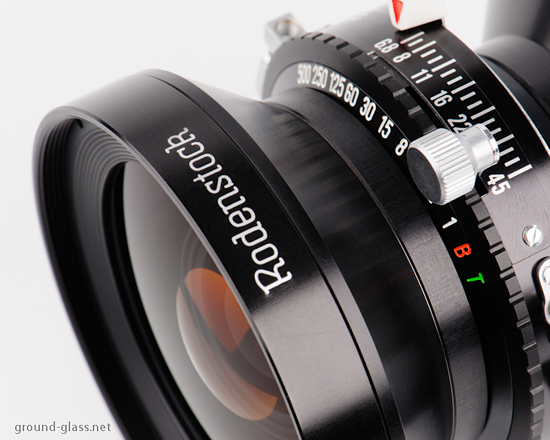 Detail of Rodenstock Grandagon N 90mm f/ 6.8 large format photography lens