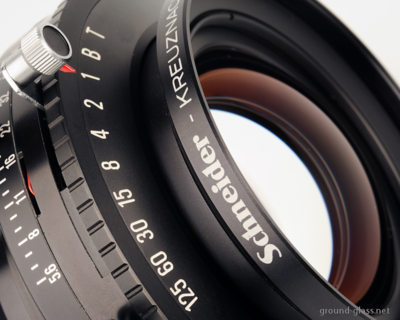 Detail of Schneider APO Symmar 240mm f/5.6 large format photography lens