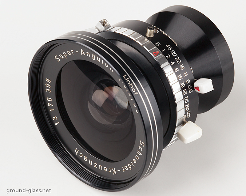 Schneider Super Angulon 65mm f/5.6 large format photography lens specifications