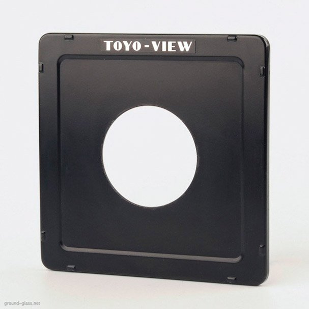 Toyo View standard lensboad drilled for Copal 3 shutter